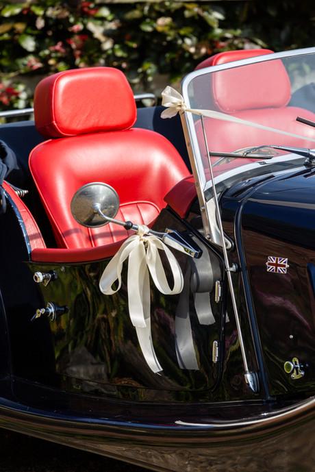 Morgan vintage sports car.