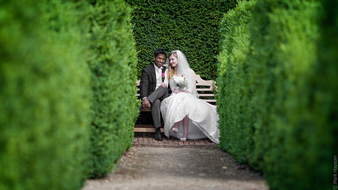 Bride and Groom at The Old Palace Hatfield House, UK