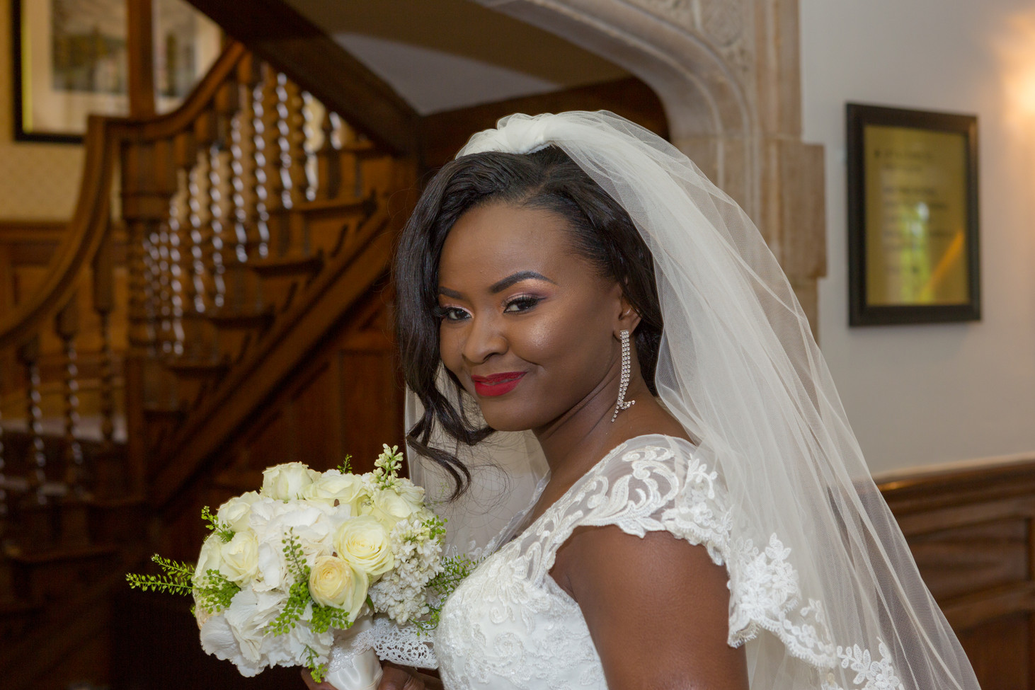 Bride at Horwood House, near Milton Keynes.