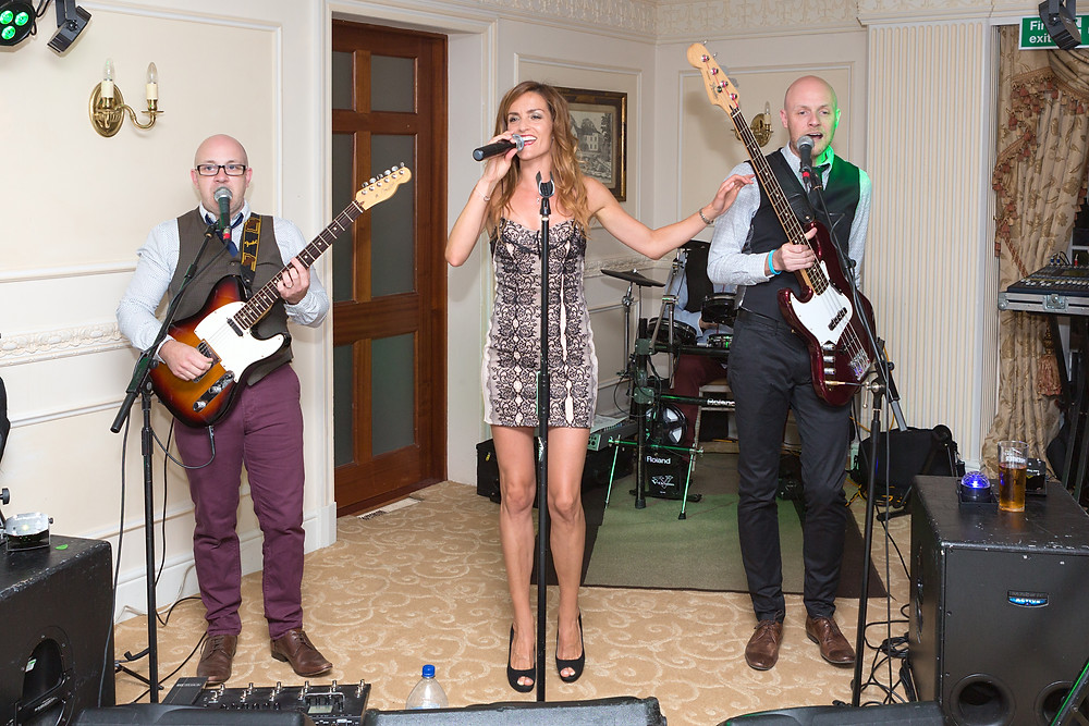 Band and singer at the wedding day celebrations.
