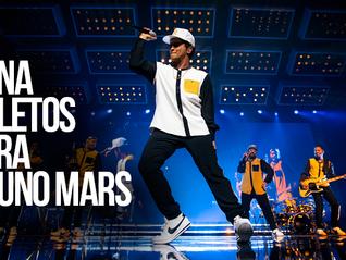 Participa y gana boletos de Bruno Mars