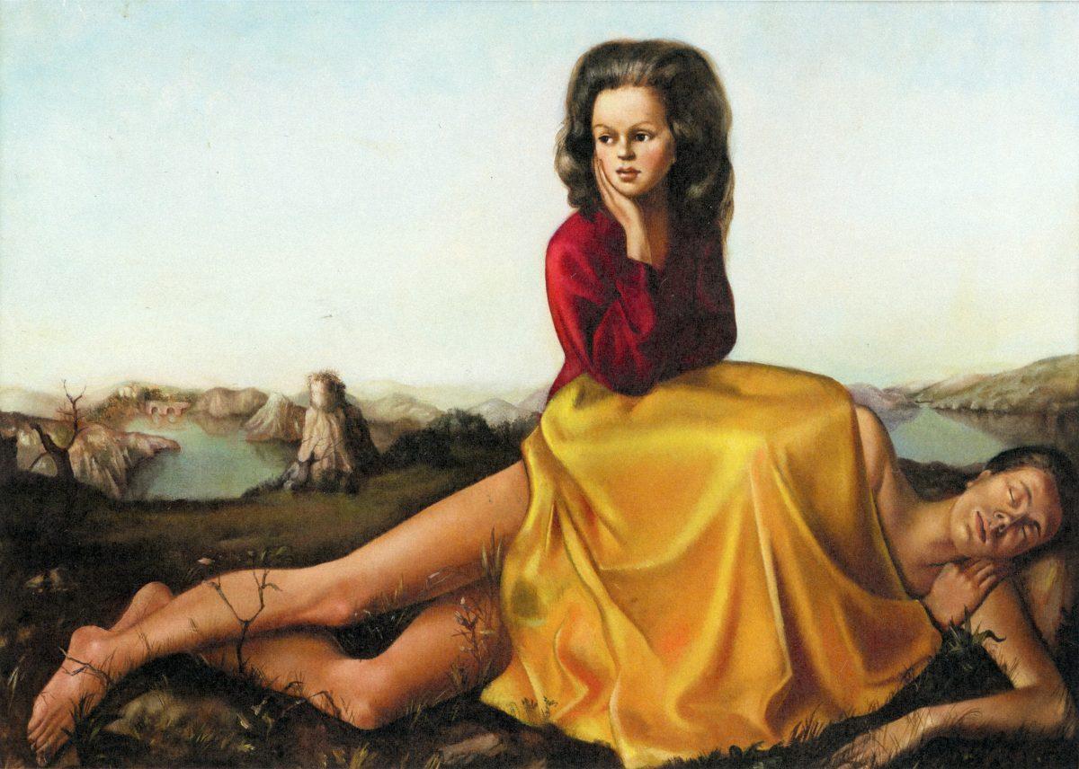 Femme assise sur un homme nu