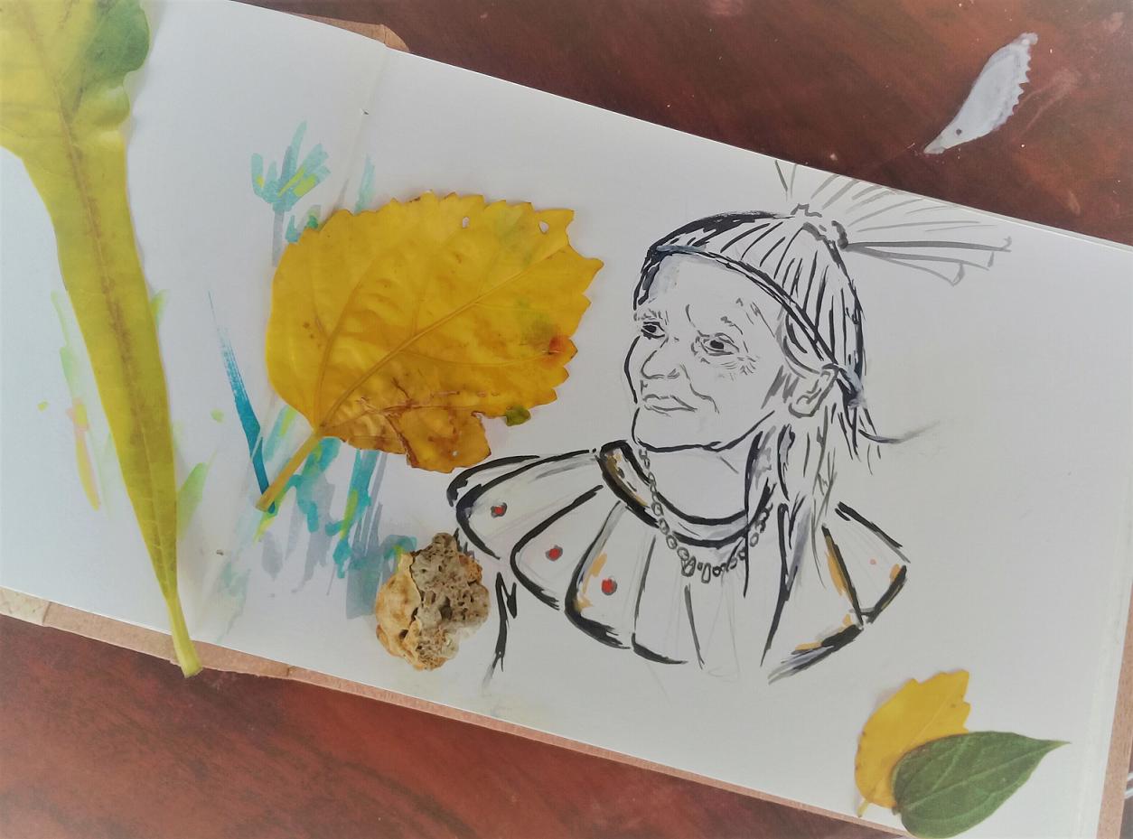 Livro de Artista: retrato de Dona Quitéria Xukuru