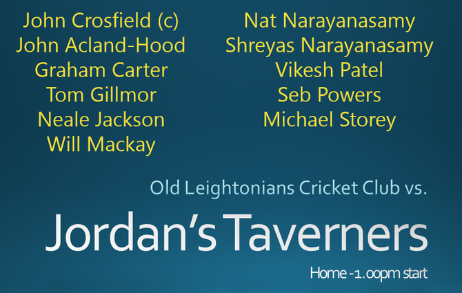 OLCC vs Jordans Taverners CC