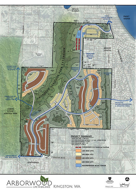 Arborwood Site Plan Opt. 1 with logo in
