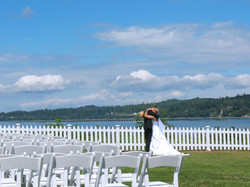 Newlyweds on the Bluff at Gamble Bay