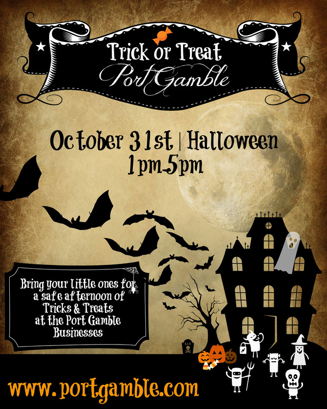 Trick-or-Treat Port Gamble - October 31st | 1:00pm-5:00pm