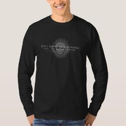Men's Long-Sleeve Saw Blade Centered T-Shirt