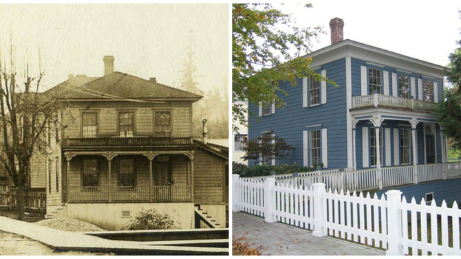 Port Gamble, WA Then & Now