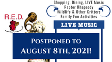 Summer Faire and Raptor Rhapsody Postponed to August 8th, 2021