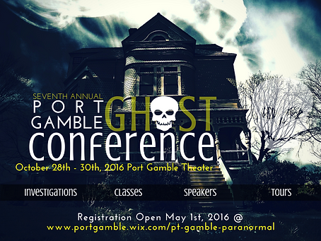 Port Gamble Ghost Conference 2015 Poster