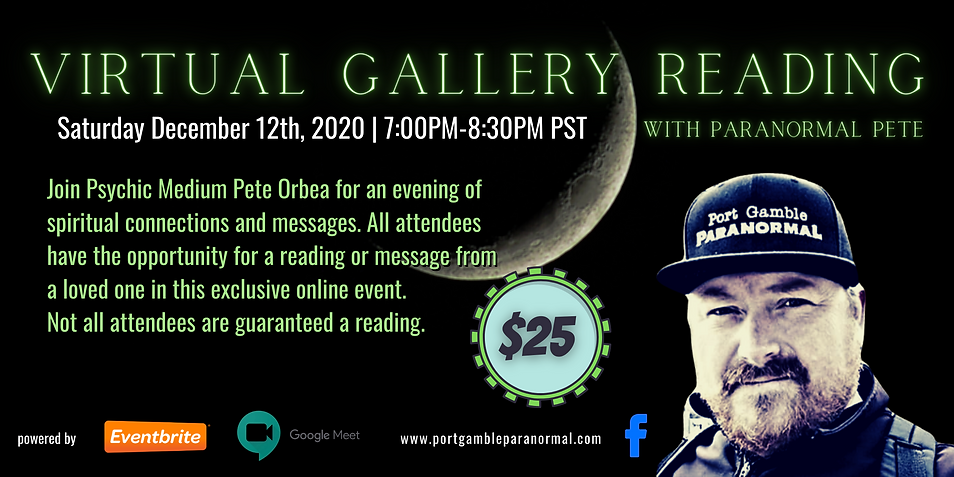 Virtual Gallery Reading Eventbrite Banne