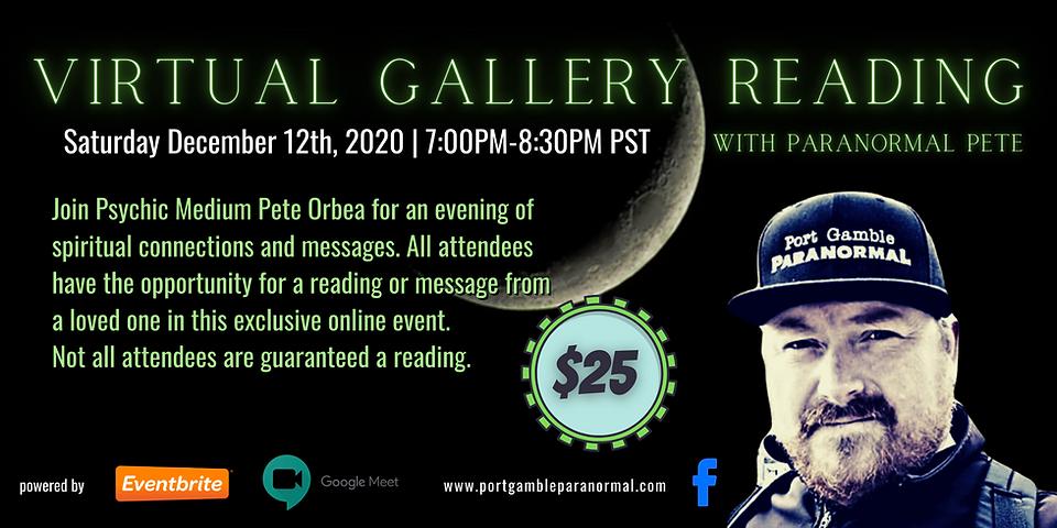 Virtual Gallery Reading Eventbrite Banne
