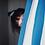 """Thumbnail: Scrunchie """"Curtain"""" blau / weiss"""