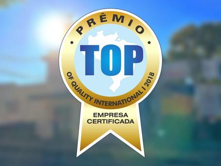Prêmio TOP Of Quality International 2018: Fomos premiados!