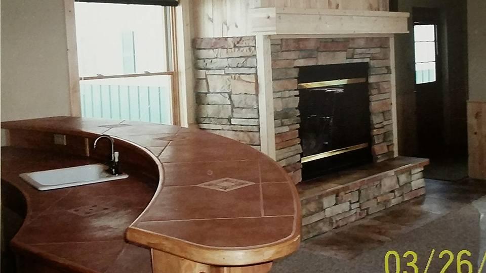 wet bar/ fireplace 2005