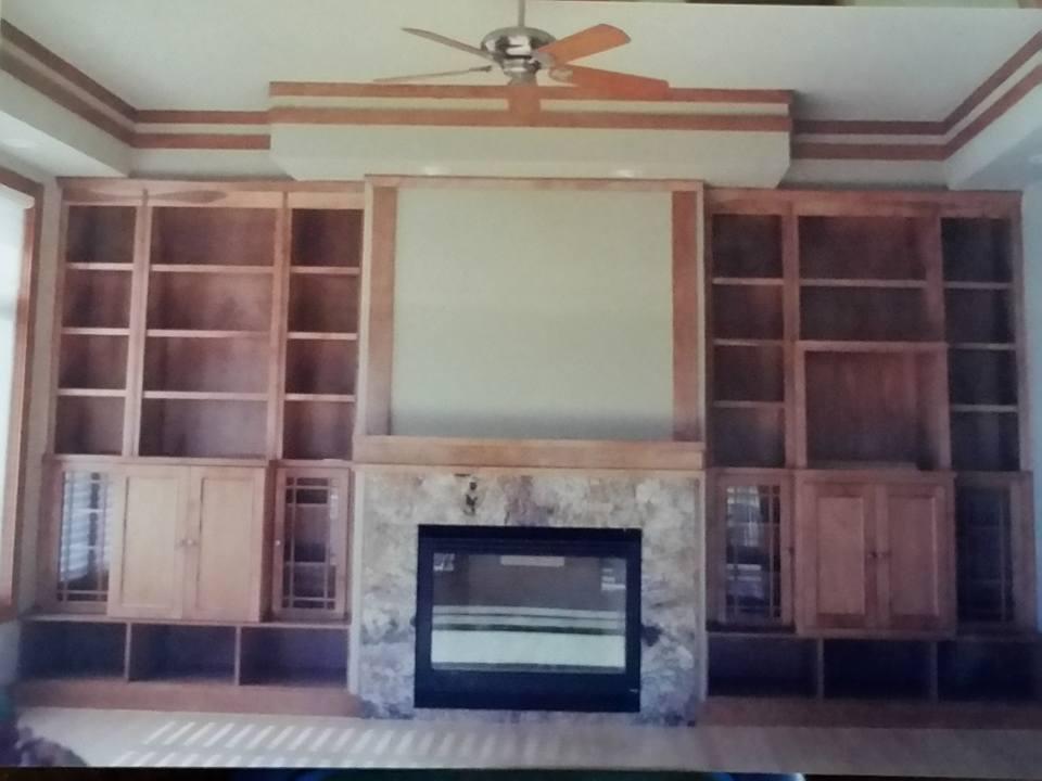 Custom Bookcase -main room