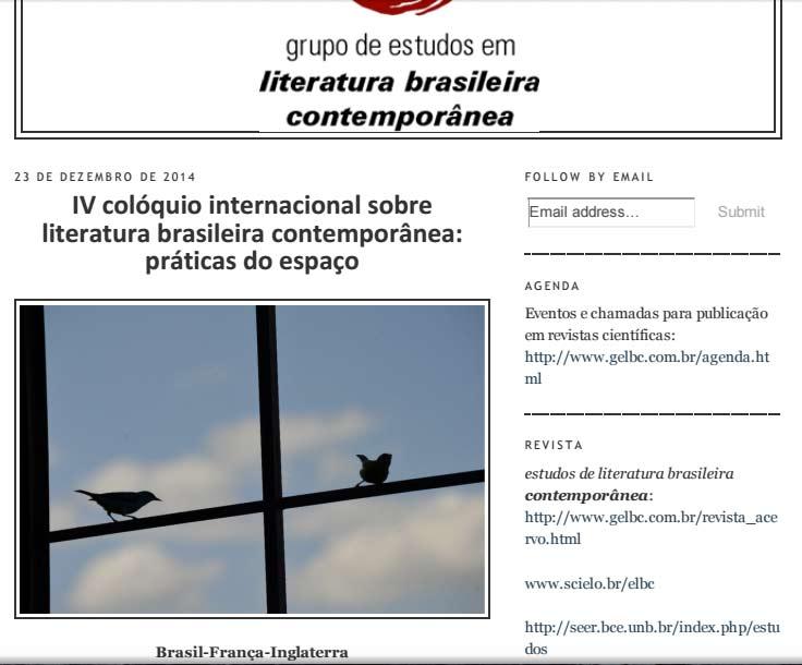 Participação no Colóquio Intern.