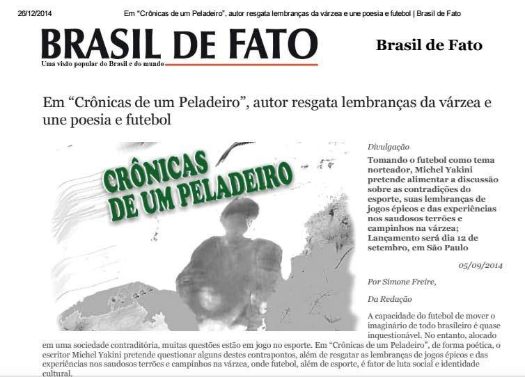 Crônicas no Brasil de Fato