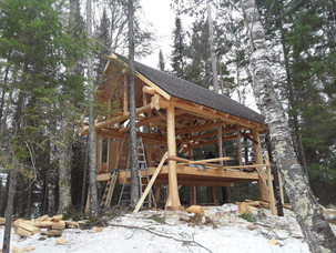 Custom log home.