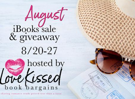 Love Kissed Book Bargains: August iBooks Super Sale & Giveaway!