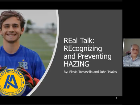 REal Talk on Recognizing and Preventing Hazing