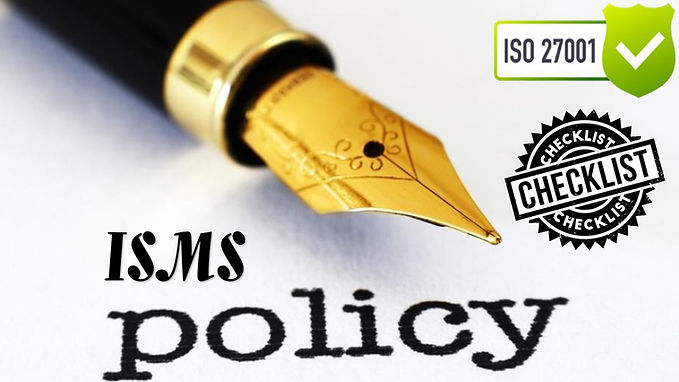 ISO 27001 Questionnaire - ISMS Policy