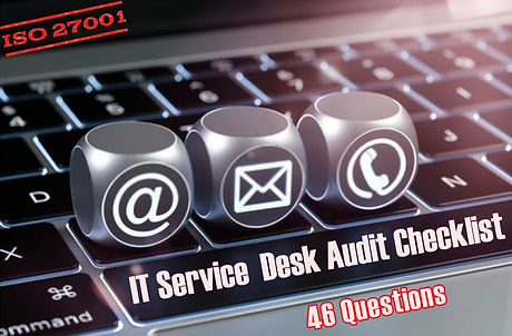 IT service desk audit checklist