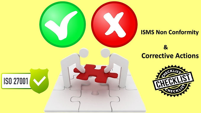 ISO 27001 Questionnaire - Non Conformity and corrective actions