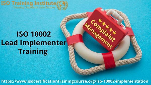 Complaint Management lead implementer tr