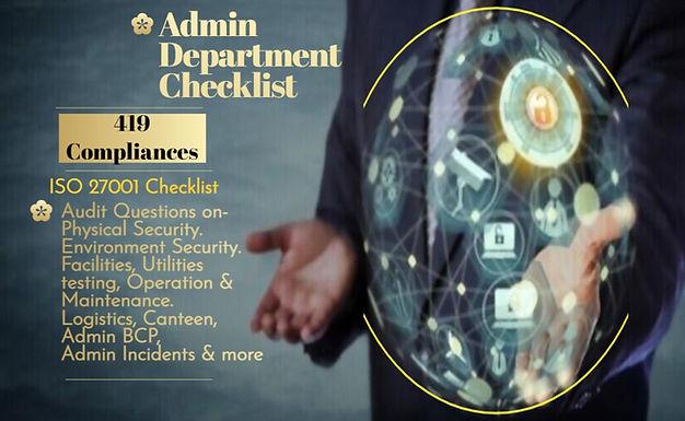 Admin department checklist