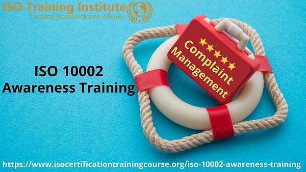 Complaint Management awareness training.