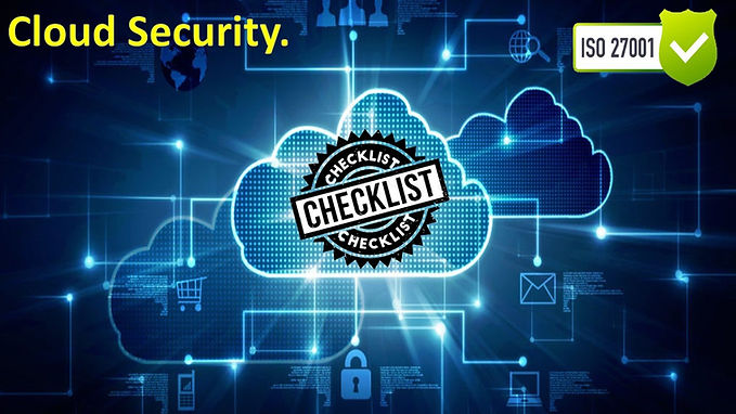 ISO 27001 Questionnaire - Cloud security checklist