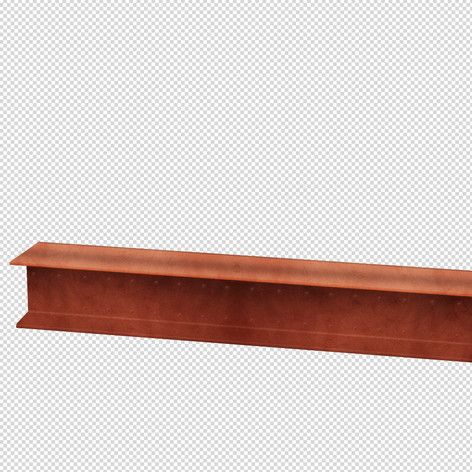 drawing of a steel beam in Photoshop