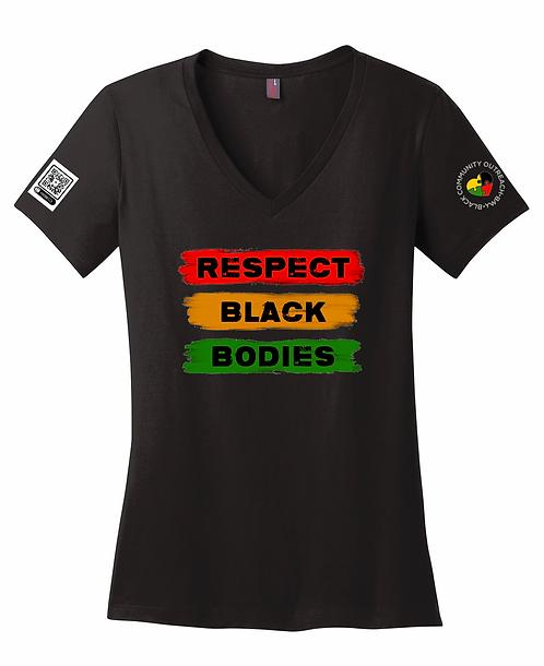Respect Black Bodies - Ladies V-Neck