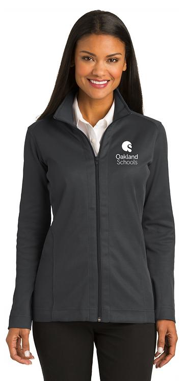 Ladies Vertical Texture Zip Jacket