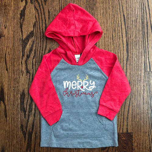 Merry Christmas - Toddler - Raglan Hoodie