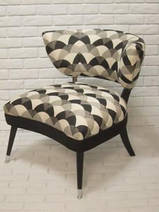 Armless Chair, Art Deco Fabric