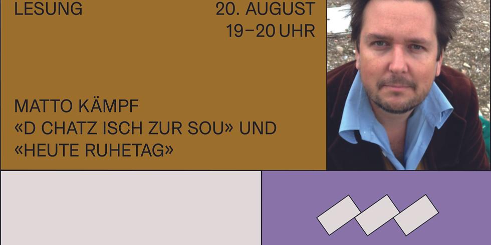 """Ausverkauft! Matto Kämpf liest aus """"D Chatz isch zur Sou"""" und """"Heute Ruhetag"""""""
