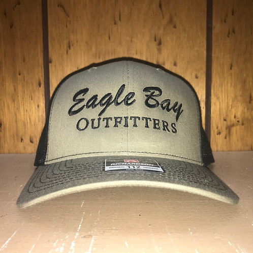 Eagle Bay Outfitters Logo Trucker Hat Loden/Black