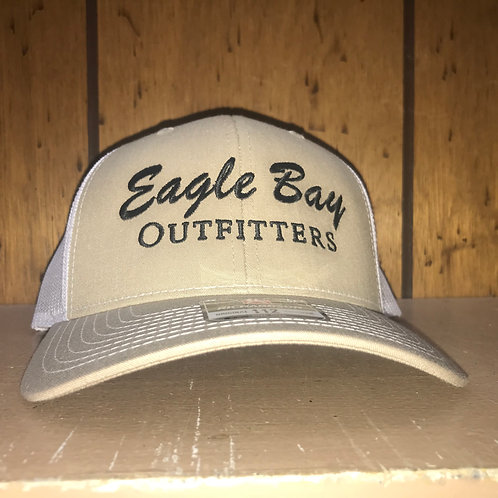 Eagle Bay Outfitters Logo Trucker Hat Khaki/White