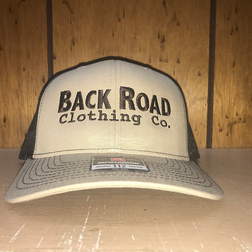 Back Road Clothing Co. Logo Trucker Hat Khaki/Brown