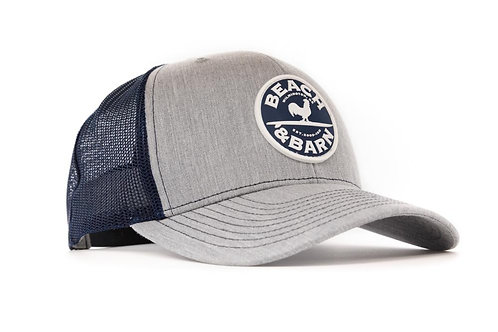 Beach & Barn Emblem Snap Back Heather Grey/Navy/Navy