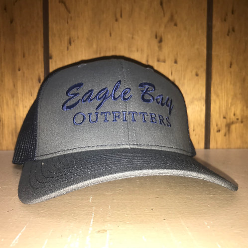 Eagle Bay Outfitters Logo Trucker Hat Charcoal/Navy