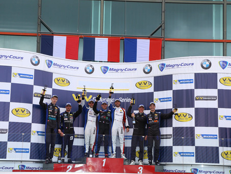 Podium finish despite tricky weather conditions in Magny-Cours
