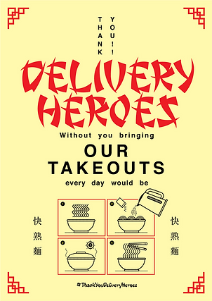 Thank You Delivery Heroes Takeouts