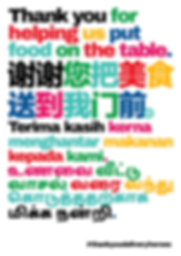 Thank You Delivery Heroes Food On The Table Poster