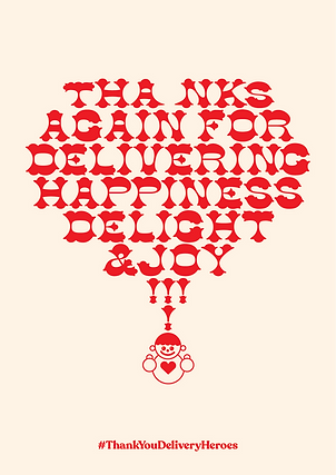 Thank You Delivery Heroes Happiness Poster