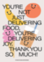 Thank You Delivery Heroes Delivering Joy Poster