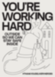 Thank You Delivery Heroes Working Hard Poster